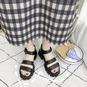 2020 Yaz Yeni Kadınlar Kalın Alt Muffin Sandalet Kadınlar Roman açık ağızlı platformu Sandalet sandalias meifeini zapatos # 35