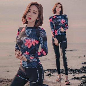 uzun kollu pantolon spor versiyonu mayo zayıflama muhafazakar kaplıca mayo göbek kapsayan Koreli yeni kadın bölünmüş boksör