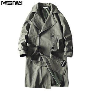 Casual Erkek rüzgarlıkları Katı Renk Moda Dış Giyim JP62 Palto Misniki 2020 Yeni Erkekler Trençkot Erkek Ceket