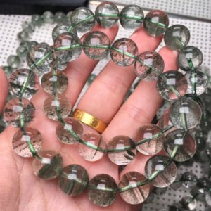 Nacional fantasma mil capa de estilo étnico verde WnmSH natural y WO estrella de cristal cuerno de la abundancia natural verde braceletNational braceletghost t