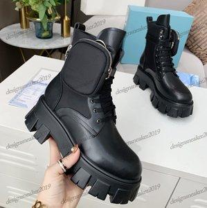 النساء الشتاء مارتن أحذية الكاحل ناعم رويس ريال الجلود والنايلون مكافحة الحذاء الجديد القابل للإزالة Keycase سميكة أصابع القدم جولة القاع السيدات Motorcy