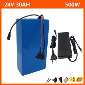24V 30Ah Li-Ion Battery 24V 20AH 7S 500 Вт Электрический велосипед Ebike Аккумулятор 18650 Ячейки с BMS 29.4V 3A Зарядное устройство