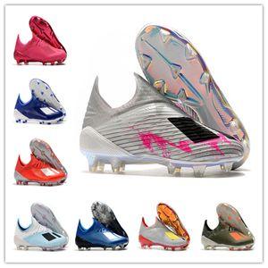 Alta calidad Botas de fútbol para suelo firme X 19 + 19 + X Tacos Speedmesh velocidad X19 malla FG Zapatos de zapatos de fútbol