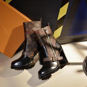 Louis Vuitton LV Dress shoes  kış kar botları ayakkabı çalışmak lusso Şampiyonu kalın tabana vurma çöl bootsHeart şeklindeki çizme kapanmak çöl botları kalın tabana vurma