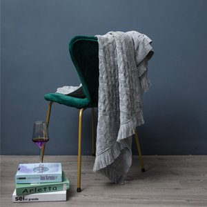 Wool Knitted Throw Blanket for Bed Decorative Sofa Cover Travel Office Nap Blanket Bedding Coverlet