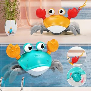 Baby Bath For Simulation Crabs Children Clockwork Swimming Leash Beach Toy Play Toys Learning Walking Education Pool Water Game Librr