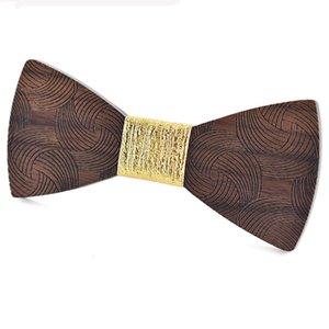 2020 Costume de la mode en bois Noeud papillon Hommes de mariage Imprimé classique Haut Grade de haute qualité Bowtie surface Vortex Cadeaux en bois unisexe