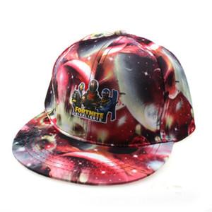 Mens Snapback Fortnite Sombreros Moda K Pop Anillo de Hierro Fortnite sombreros ajustables gorra de béisbol unisex Impreso Impreso casquillos del Snapback de Hip Hop PR # 357