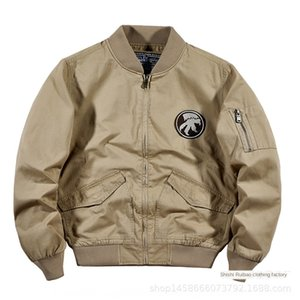 Sonbahar tulumları ma1 Pilot erkekler Kore tarzı beyzbol üniforma beyzbol yaka ceket büyük boy pamuklu ceket erkek modasını overalls