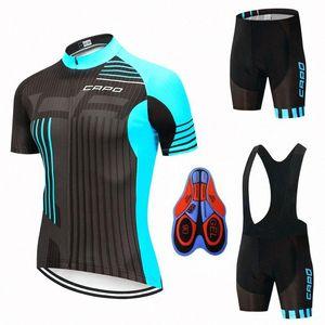 2020 2020 YENİ CAPO Pro Cycling Formalar Seti Yaz Bisiklet Giyim Dağ Bisikleti Giyim Bisiklet Giyim MTB Bisiklet Giyim Takım Elbise AyFD #