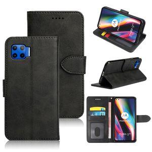 Retro Classic Leather Flip Case für Motorola Moto G 5g Plus G9 Plus Moto E6s Edge Plus Telefon mit ID-Kartensteckplatz