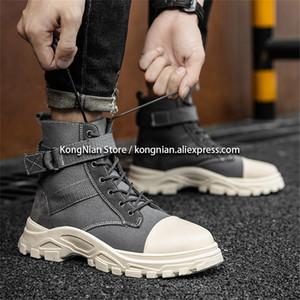 erkekler yeni stil rahat erkekler platform ayakkabılar moda zamanki siyah ayakkabılar nefes ayakkabı için KONG Nian sonbahar kış yüksek üstleri