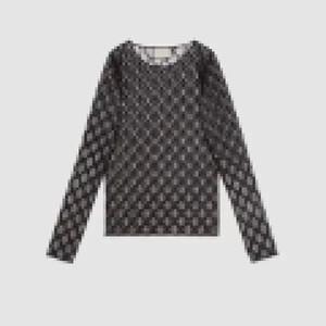 Uzun Kollu Örgü Dip T Gömlek Nakış Mektup Kadın Güneş Kremi Giysi Bayanlar Moda Sıkı Üst Tees Kızlar T-shirt 2 Renkler