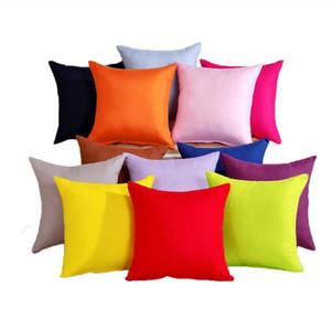 New Pillowcase Pure Color Polyester White Pillow Cover Cushion Cover Decor Pillow Case Blank Christmas Decor Gift