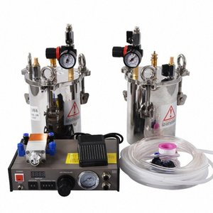 Новый MY-2000 Double Liquid Glue Dispenser Оборудование Точная автоматика AB Клей Машина для дозирования с 2pcs 10L давления Танки lEhL #