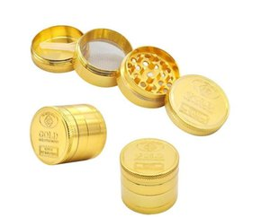Creative Metal Smoking Grinder Four Layer Zinc Alloy Gold Coin Pattern Grinder Mini Portable Manual Crusher