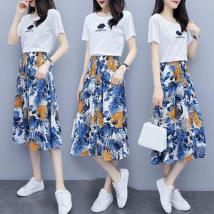 3M7Tz Ся 2020 Летний корейский печатных модных qwPDz Ji Qun 2020 Летний новый корейский печатных модную юбку Ся QUN джи новую юбку