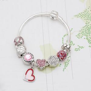 New charme pulseira de prata esterlina 925 Pandora estilo pulseira talão charme charme como um presente para as crianças DIY jóias 18CM