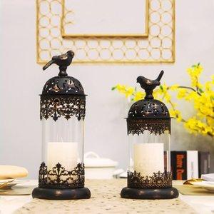 Nordic Marocco metallo creativo prop vento leggero cena romantica puntelli Candlestick decorazione della casa candeliere mMnlU