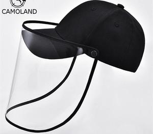 CAMOLAND Anti-fog Baseball Hat Unisex Dust Protection Bucket Hats Outdoor Anti-Wind Fisherman Hat Men UV Protect Sun Caps