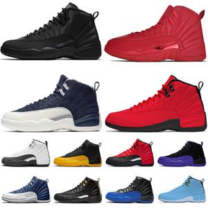 12 12s High Баскетбольная обувь Мужские Gym Red Wool Мичиган Нейлон такси Гамма Синий NakeskinИорданияРетро XII Мужчины Спорт Кроссовки США 7-13