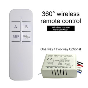 QIACHIP 2 Way AC 220V Digital RF Wireless Remote Control Switch For LED Light Lamp Bulb ON OFF Ceiling Fan Panel Control Switch