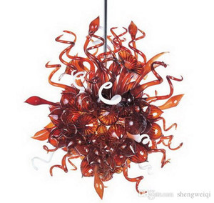 Small Size Hand Blown Glass Pendant Lamps Murano Glass Chihuly Style Crystal Chandelier Light for Home