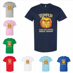 Tees Trump T-shirt adulto engraçado Unisex LJJP352 Trumpkin Halloween roupa de Halloween Novamente Faça Casual Sports Grande Lgult algodão