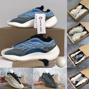 Kutu Arzareth Azael Alvah Glow 700 v3 Sneakers Kanye West Oreo Dalga Runner Statik Allık Kemik 500 Basamak Ayakkabı Erkek Eğitmenler Boyutu 13 ile