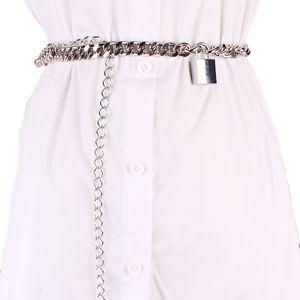 Brand Female Metal Waist Chain Buckle PIn Belt Waistband Women SIlver Gold Metallic Jean Pant Belt Strap For Dress Decoration