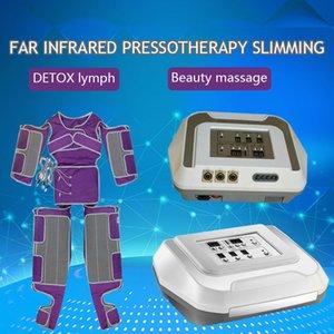 Pressão de Ar Leg Massager Air Compression Massagem Botas Pressoterapia Infrared Drenagem Linfática Máquina 16 Air Bags Pressão