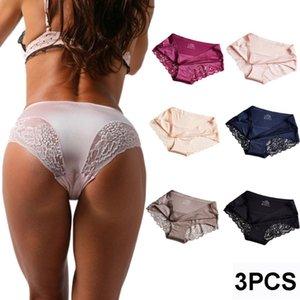 3 Pcs Sexy Lace Panties Women Fashion Underwear Lingerie Tempting Briefs High Quality Female Underpant Intimates M L XL XXL XXXL
