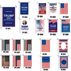 Trump Флаг 30 * 45см Президент сад Флаги Keep America Great Banners Односторонний США Избирательного Патриотического украшение Баннер GGA3686