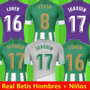 20 21 Real Betis SoccerJersey JOAQUIN Boudebouz MANDI BARTRA Tello GARCIA canales édition commémorative de pied adulte maillot manches courtes + ENFANTS