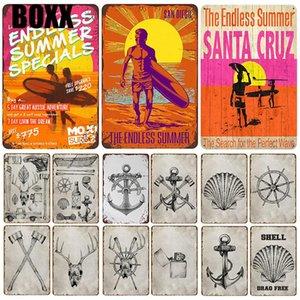 2020 Beach Surf placca di metallo vintage Targa Pin Up Shabby Chic decoro in metallo Segni Vintage Bar decorazione in metallo Poster Bar Piastra