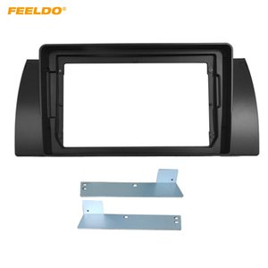 "FEELDO Car Stereo 9"" Big Screen Fascia Frame Adapter For BMW X5 E53 E39 2Din DVD Player Dash Audio Fitting Panel Frame Kit #6520"