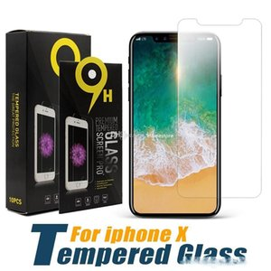 2020 IPhone 11 11pro max XS XSMax XR X 8 8plus Tempered Glass Screen Protector For Iphone 7 6 6 plus 2.5D 9H Anti-shatter Paper Package
