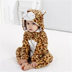 Baby Pajamas Baby Clothes Flannel Animal Model Climbing Clothes Onesie Baby Romper Bodysuits All In Ones Kids Clothing