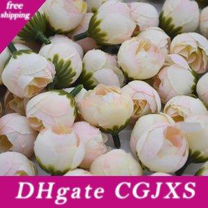 20pcs 2cm flor artificial del brote de Rose Pequeño seda té Brote Cabeza de la boda del partido para la decoración del hogar de bricolaje de la guirnalda de álbum de recortes Crafts