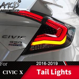 Kuyruk Lambası İçin Araç Honda Civic G10 X 2016 2019 LED Işıklar Sis Gündüz DRL Tuning Otomobil Aksesuarları Koşu