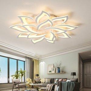 New Led Lustre Para Sala Quarto Início brilho para sala Modern Led Tecto Chandelier Lamp Luminárias brilho quente branco fresco