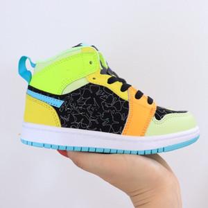 Scarpe 2020 nuova Jumpman 1s alta OG Chicago Gioco UNC Pallacanestro Kids bambini' Shattered Tabellone sport progettista sneakers formato 22-35