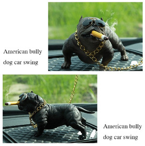 NEW Car Dog Decor Bully Dog Puppen Ornaments Simulated Car Interior Anhänger Home Office Decor Spielzeug Autozubehör