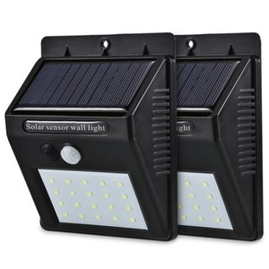Cgjxs20 Led Solar Sensor Wall Light Motion Sensor Powered Wall Light Out Door Home Garden Wall Lights Night Security Lamp Gutter With Box Pa
