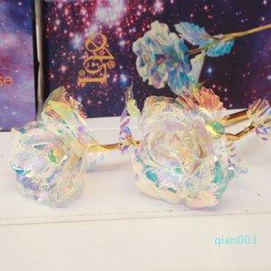Decor Dia dos Namorados Popular presente para amantes da flor artificial acabamento requintado casamento Plating Ouro Foil Rose Favor 8ky Ww