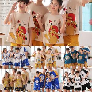 swyj6 pijama pai-filho roupa terno família das mulheres f três ou quatro algodão Yimufu para famílias de verão casal lar roupas pijamas homens
