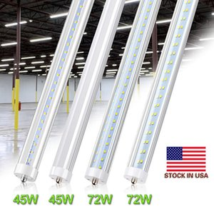 8ft LED Bulb Light 45W 72W FA8 LED Tube Foot 8 Single Pin T8 LED Tube Light Double-Ended Power, FT8 T10 Fluorescent Replacement
