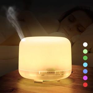 La aromaterapia ultrasónico 500ml Aroma humidificador de aire Essentiel aceite de la máquina fabricante de la niebla 7 cambio de color de luz LED para el hogar decoración de la habitación de iluminación