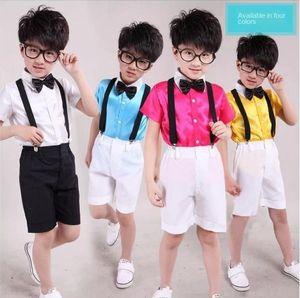 Neue Leistungskinderkleidung für Chor Host-Shirts Shorts tong chen shan tong chen shan Shorts Kinder-Shirt Riemen Kindjungen-