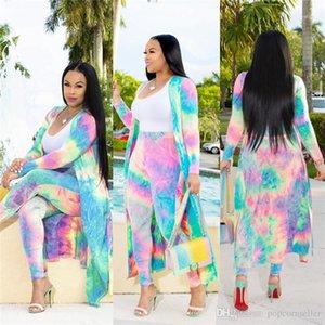 Lockere Blumenanzug Langarm 3D Printing Bekleidung Damen Breath Lässige Kleidung Frauen Designer-Sommer-Herbst Mäntel Mode